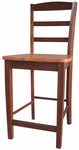 Madrid Solid Wood 41''H Counter Height Stool with Ladder Back - Cinnamon [S58-402-FS-WHT]