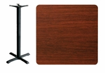24'' x 42'' Double-Sided Rectangular Indoor Table Top - Bar Height Cross Base [CM2442-TB-24304T-BFMS]