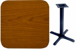 30'' x 42'' Double-Sided Rectangular Indoor Table Top - Standard Height Cross Base [CM3042-TB-24304-BFMS]