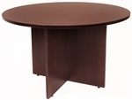 Legacy 42'' Round Wooden Conference Table with X Base - Mahogany [LCTR42MH-FS-REG]
