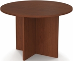 42'' Round Meeting Table with 1'' Melamine Top and PVC Edge - Bordeaux [65770-39-FS-BS]