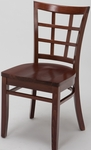 4300 Series Wood Frame Armless Hospitality Chair with Wood Grid Back and Wood Seat [4317-WOOD-IFK]