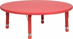 45'' Round Red Plastic Height Adjustable Activity Table [YU-YCX-005-2-ROUND-TBL-RED-GG]