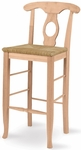 Empire Traditional Solid Parawood 30''H Bar Stool - Unfinished [S-123-FS-WHT]