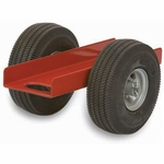 Heavy Duty Steel Frame Caddy with 6.125'' Channel and Airless Rubber Tires [465-RPC]