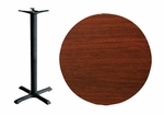 48'' Double-Sided Round Indoor Table Top - Bar Height Cross Base [CM48R-TB-36364T-BFMS]