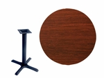 48'' Double-Sided Round Indoor Table Top - Standard Height Cross Base [CM48R-TB-36364-BFMS]