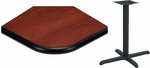 24'' x 48'' Laminate Table Top with Bullnose Vinyl Edge and Base - Standard Height [ATB2448-T2430M-SAT]