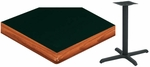 24'' x 48'' Laminate Table Top with Bullnose Wood Edge and Base - Standard Height [ATWB2448-T2430M-SAT]