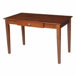 Solid Parawood 48''W X 30''H Home Office Desk with Drawer - Espresso [OF581-41-FS-WHT]