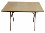 48'' Reliant Standard Series Square Folding Table with Non Marring Floor Glides - 48''W x 48''L x 30''H [205200-MES]