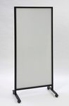 490 Series Mobile Double Sided Markerboard with Black Powder Coated Aluminum Frame - 30''W x 72''H [490-CLA]