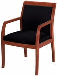 4900 Series Wood Frame Guest Armchair with Upholstered Square Back and 3'' Web Seat [FB4921-IFK]