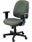 4x4 Mid Back 29.5'' W x 26'' D x 37'' H Adjustable Height Multi Function Fabric Task Chair - Fabrix [49802A-FAB-FS-EURO]