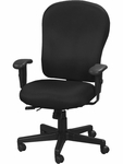 4x4 XL High Back 29'' W x 26'' D x 40.5'' H Adjustable Height Multi Function Fabric Task Chair - Black [FM4080-AT33-FS-EURO]