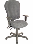 4x4 XL High Back 29'' W x 26'' D x 40.5'' H Adjustable Height Multi Function Fabric Task Chair - Charcoal [FM4080-H5511-FS-EURO]