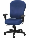 4x4 XL High Back 29'' W x 26'' D x 40.5'' H Adjustable Height Multi Function Fabric Task Chair - Navy Blue [FM4080-AT30-FS-EURO]