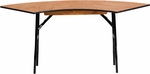 5.5 ft. x 2 ft. Serpentine Wood Folding Banquet Table [YT-WSFT48-24-SP-GG]