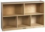 Birch 30''H Storage Cabinet with Five 12'' Deep Compartments - Natural Finish [ELR-0420-ECR]