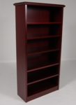5-Shelf Wood Veneer Bookcase in Mahogany Finish [946MH-FS-FDG]