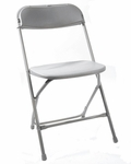 500 lb. Max Gray Poly Performance Folding Chair [MP101-GRAY-CSP]