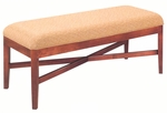 500 Luggage Bench w/ Exposed Wood Rail & Upholstered Seat - Grade 1 [500-GRADE1-ACF]