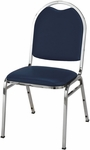 500 Series Stacking Armless Hospitality Chair with Rounded Back and 1.5'' Upholstered Seat [510-IFK]