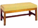 501 Luggage Bench: Wood Rail Upholstered Seat w/ Chippendale Legs - Grade 2 [501-GRADE2-ACF]