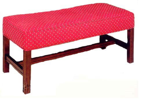 503 Luggage Bench W Upholstered Web Seat Chippendale Legs Grade 2 503 Grade2 By Ac