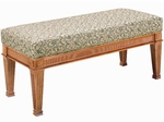 508 Luggage Bench w/ Exposed Fluted Wood Rails & Upholstered Seat - Grade 1 [508-GRADE1-ACF]