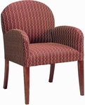 5082 Lounge Chair w/ Upholstered Back, Spring/Tight Seat, and Tapered Wood Legs - Grade 1 [5082-GRADE1-ACF]