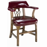 5125 Bankers Chair w/ Upholstered Back & Spring Seat - Grade 1 [5125-GRADE1-ACF]