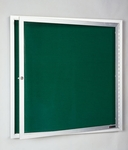 541 Series Directory Cabinet with 1 Locking Tempered Glass Door - 36''W x 24''H [541VF-CLA]