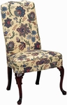 5450 Side Chair: Upholstered Spring Back & Seat with Queen Anne Legs - Grade 2 [5450-GRADE2-ACF]
