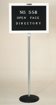 558 Series Open Face Adjustable Height Freestanding Directory - 20''W x 48''H - 60''H [558SF-CLA]