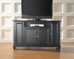 59.75''W TV Stand in Black Finish with Cambridge Style Feet [KF10001DBK-FS-CRO]