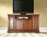 59.75''W TV Stand in Classic Cherry Finish with Alexandria Style Feet [KF10001ACH-FS-CRO]