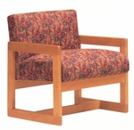 5901 Lounge Chair w/ Wood Frame, Upholstered Spring Back & Seat - Grade 1 [5901-GRADE1-ACF]