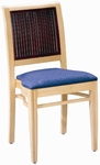 597 Stacking Chair w/ Upholstered Seat - Grade 1 [597-GRADE1-ACF]
