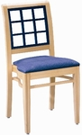 599 Stacking Chair w/ Upholstered Seat - Grade 1 [599-GRADE1-ACF]
