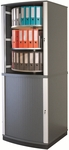 Moll 6 - Tier 2 LockFile Rotating Carousel Storage Cabinet - Gray [LF6-FS-EOS]