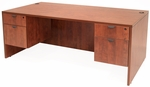 Legacy 60''W x 30''D Wooden Desk with Two Locking Pedestals - Cherry [LDP6030CH-FS-REG]