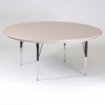 Blow-Molded Round Plastic Top Activity Table - 60'' Diameter [AR60-RND-23-CRL]