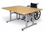 Crank Hi-Lo Table with Adjustable Height - 28''W X 60''L X 26 - 38''H [HAU-4324-FS-HAUS]