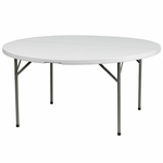 60'' Round Granite White Plastic Folding Table [DAD-YCZ-154-GW-GG]