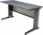Fusion 60''W x 24''D Laminate Training Table with PVC Edge - Grey [MFTT6024GY-REG]