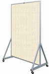 629 Series Multi-Use Double Sided Room Divider - Fabricork - 48''W x 78''H [629-4F-CLA]