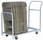 Folded or Stacked Chair Tote with Push Handle - 22''W x 67''D [630-RPC]