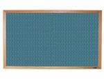 700 Series Tackboard with Wood Frame - Designer Fabric - 36''W x 24''H [750D-CLA]
