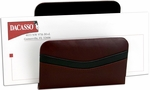 Classic Two Tone Leather Letter Holder - Burgundy and Black [A7008-FS-DAC]